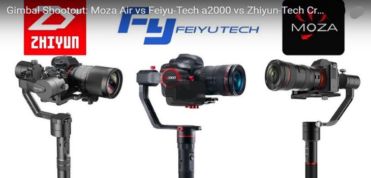 Moza Air vs Feiyu-Tech a2000 vs Zhiyun-Tech Crane v2 Gimbals Test