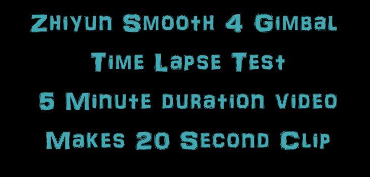 Zhiyun Smooth 4 motion timelapse test video