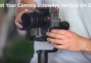 Mount Camera Sideways Vertical On Gimbal With Cage