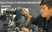 Zhiyun Crane 3 Lab and Weebil Lab gimbals
