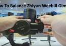 Balance Zhiyun Weebill Gimbal