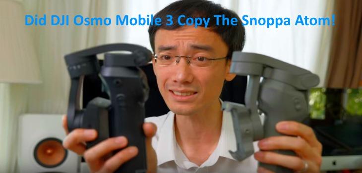 DJI Osmo Mobile 3 copy Snoppa Atom gimbal