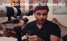 Sony a7c and Sony 200-600mm lens on gimbal